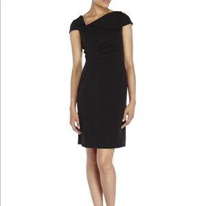 Tahari ASL Envelope Collar Sheath Dress Size 4